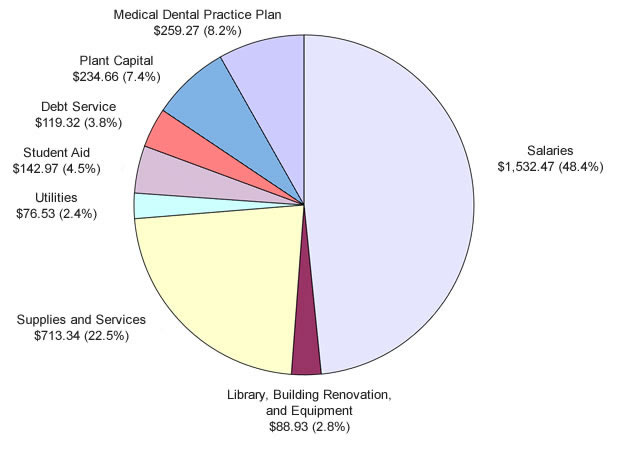 University Wide Budgeted Expenditures 2013