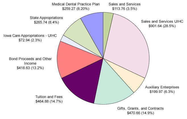 University Wide Budgeted Revenues